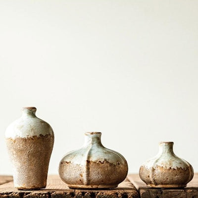 Distressed Round Terra Cotta Vase