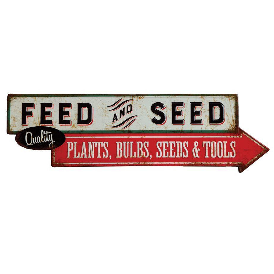 Feed & Seed Metal Sign-Decor-A Cottage in the City