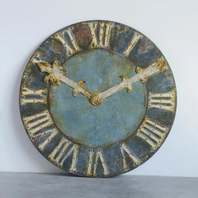 Rusty Decorative Metal Clock Face Large