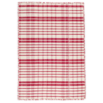 Dash & Albert Guilford Red Woven Cotton Rug