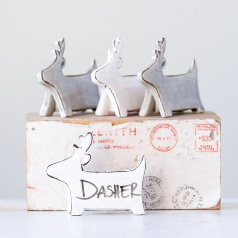 Decorative Stoneware Tabletop Deer-Seasonal-A Cottage in the City