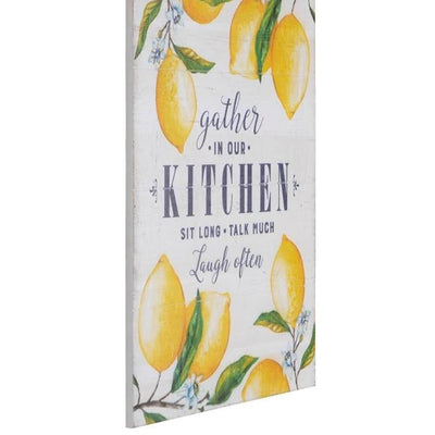 Gather In Our Kitchen Lemons Wood Sign-Decor-A Cottage in the City