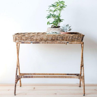 Woven Arurog Folding Tray Table