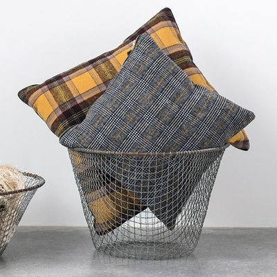Wool Blend Plaid Pillow