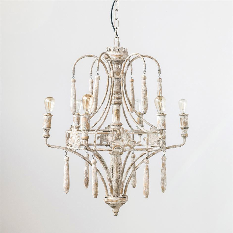 Victorian Metal Chandelier-Furniture-A Cottage in the City