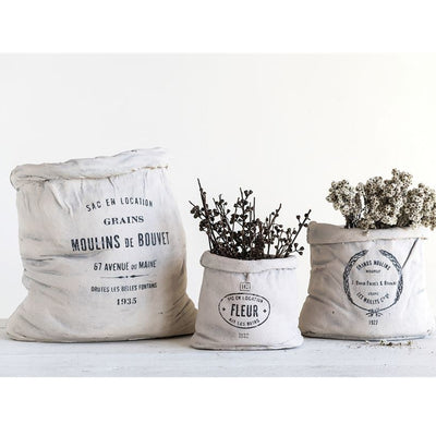Feed Sack Cement Planter