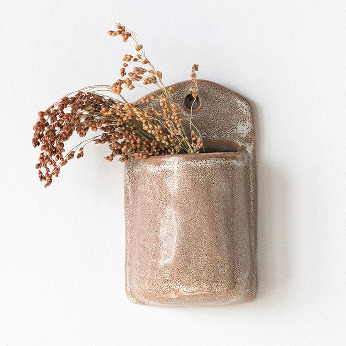 Putty Stoneware Wall Planter-Tabletop-A Cottage in the City