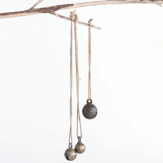 Vintage Brass Bell On Jute Rope-Seasonal-A Cottage in the City