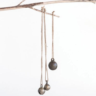 Vintage Brass Bell On Jute Rope