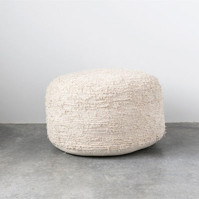 Cream Cotton Pouf
