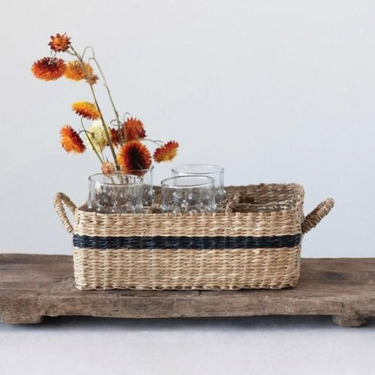 Seagrass Basket With Compartments-Storage-A Cottage in the City