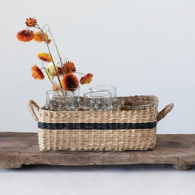 Seagrass Basket With Compartments