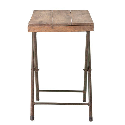 Reclaimed Wood With Metal Legs Folding Table-Furniture-A Cottage in the City