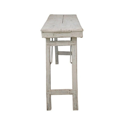 Whitewashed Reclaimed Wood Folding Table-Furniture-A Cottage in the City