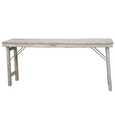 Whitewashed Reclaimed Wood Folding Table