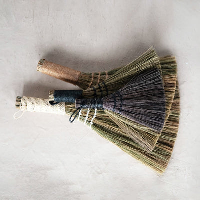 Yarn Wrapped Whisk Broom Set