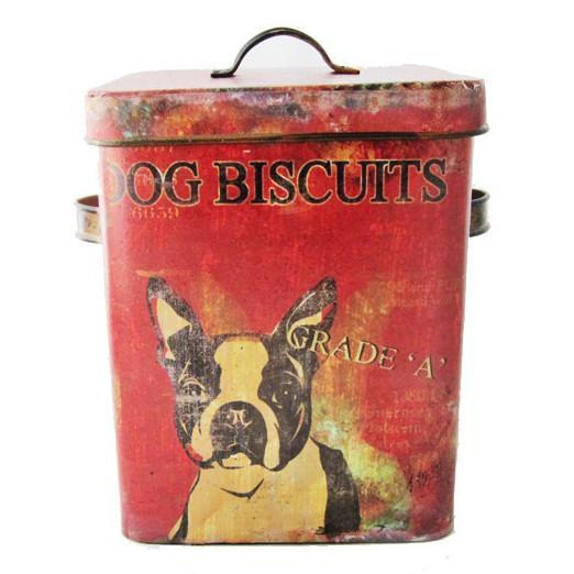 Distressed Dog Treat Tin-Storage-A Cottage in the City