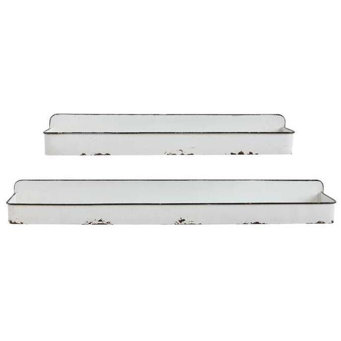 Distressed Enamel Metal Shelf