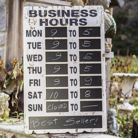 Distressed Wood Chalkboard Hours Sign-Decor-A Cottage in the City