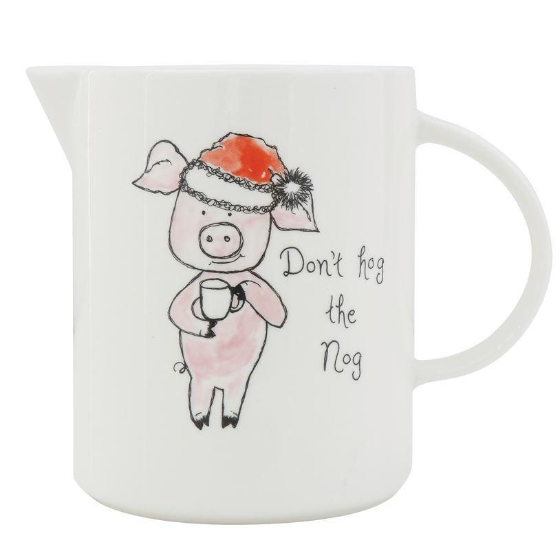 Don't Hog The Nog Pitcher-Decor-Creative-A Cottage in the City