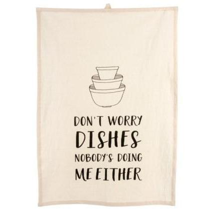 Don't Worry Dishes Dishtowel-Tabletop-A Cottage in the City