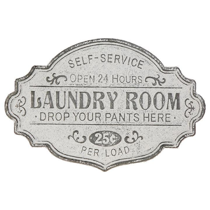 Embossed Galvanized Metal Laundry Sign-Decor-A Cottage in the City