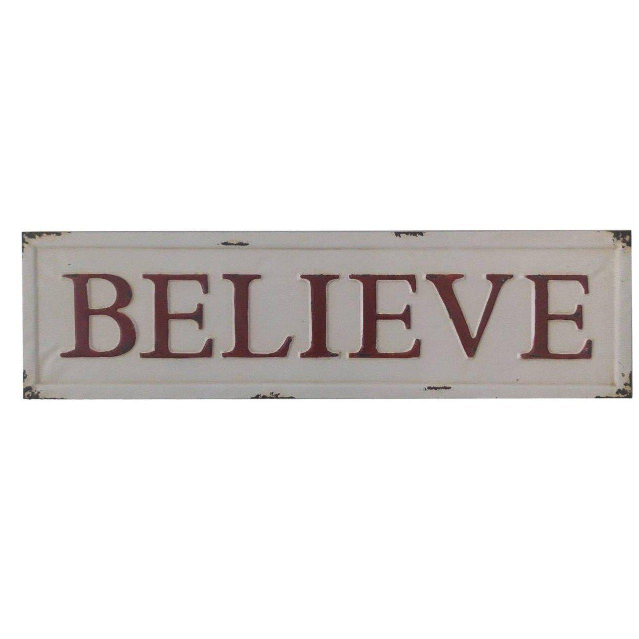 Embossed Metal Believe Sign-Decor-A Cottage in the City