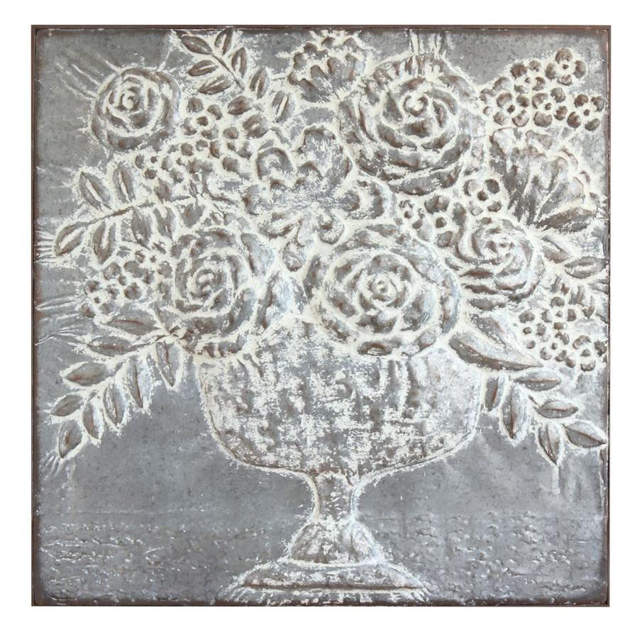 Embossed Metal Floral Bouquet Wall Art-Decor-Creative-A Cottage in the City