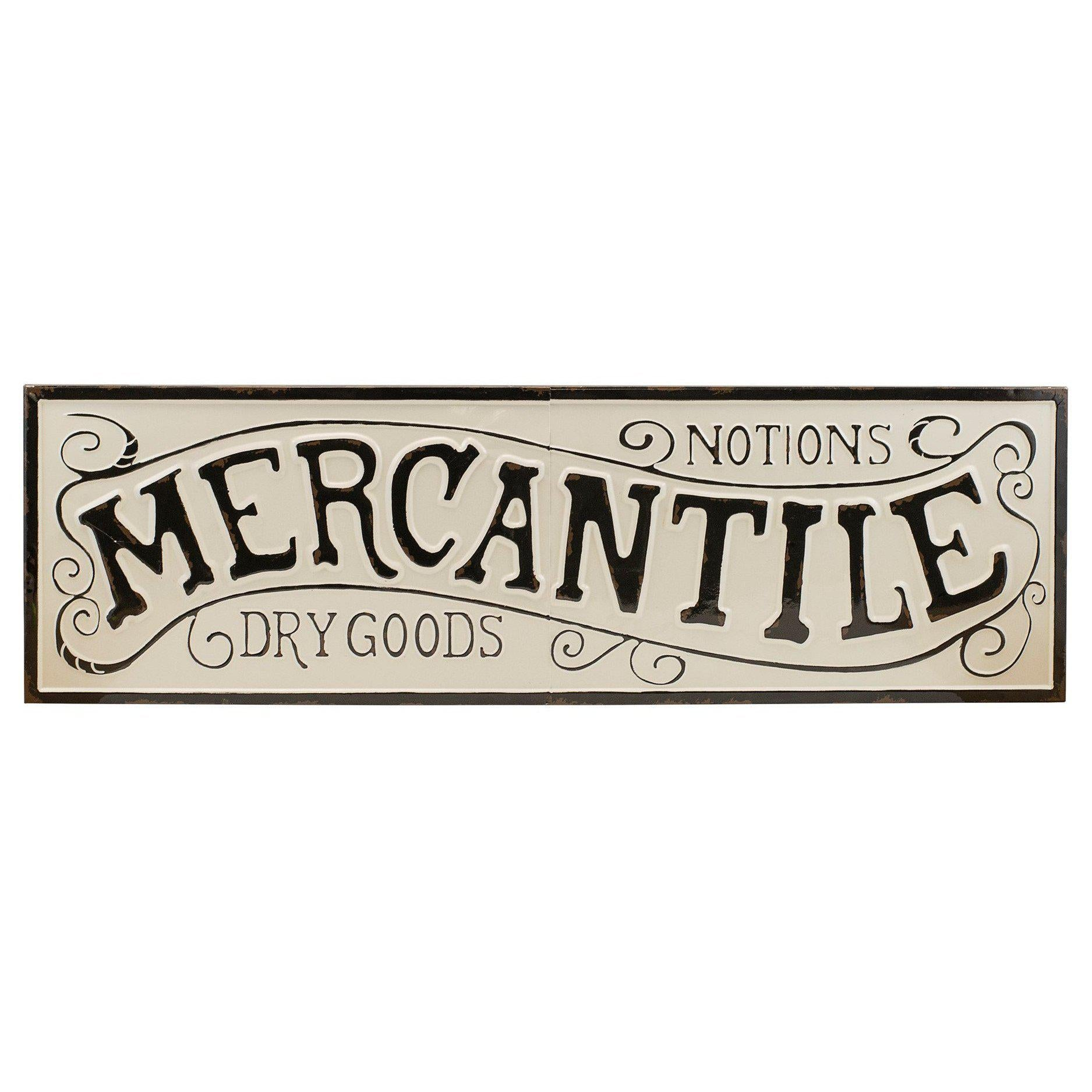 Embossed Metal Mercantile Sign-Decor-A Cottage in the City