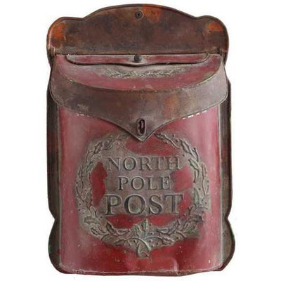 Embossed Post North Pole Mail Box