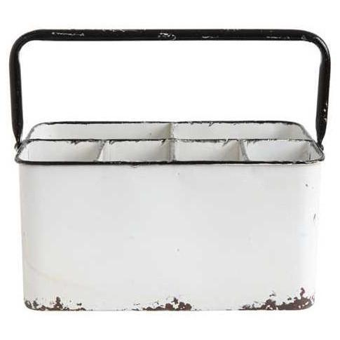 Enamel Metal Caddy-Tabletop-A Cottage in the City
