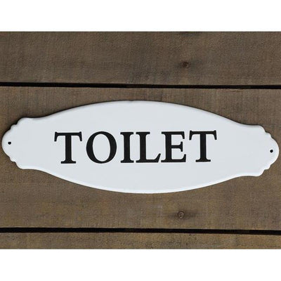 Enamel Metal Toilet Sign