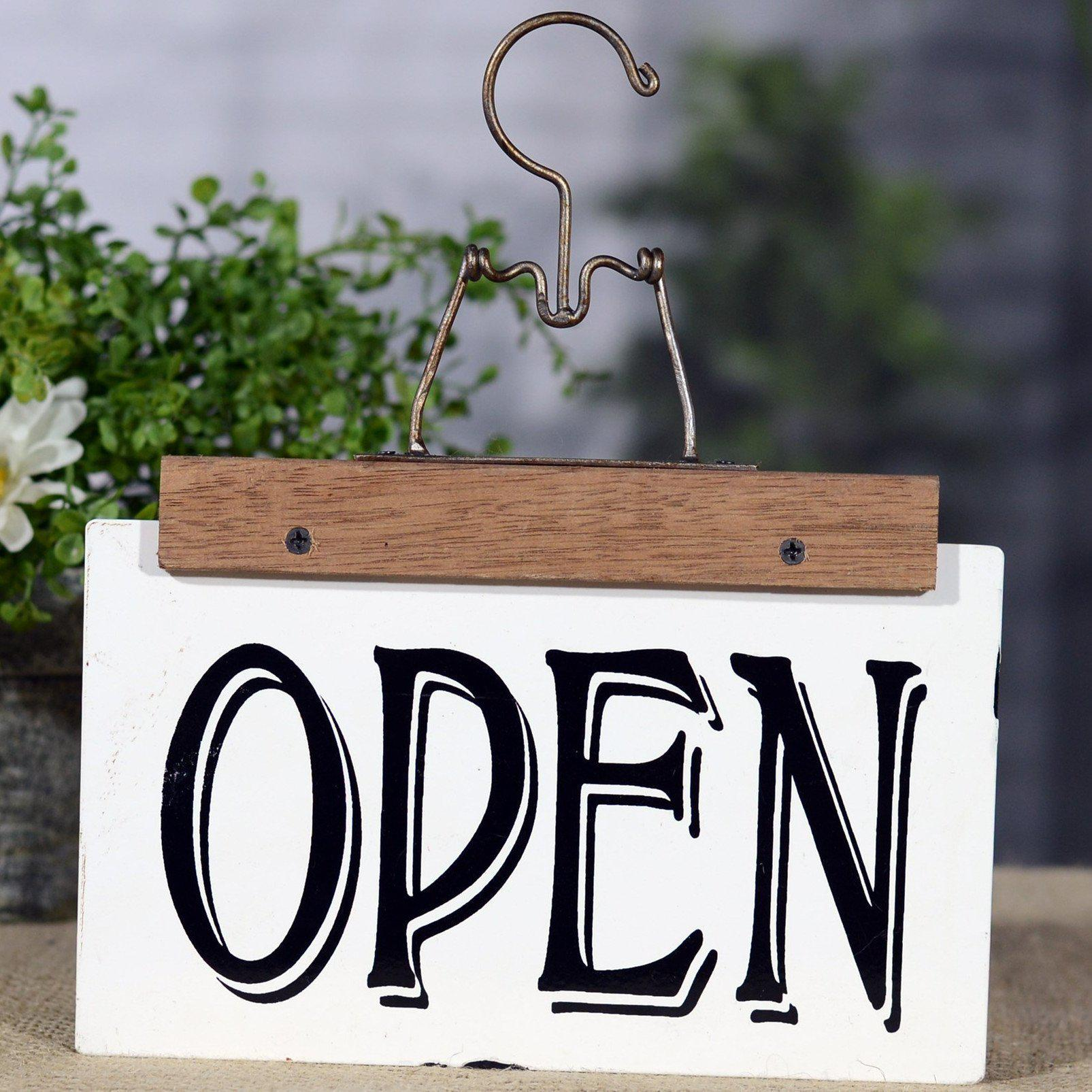 Enamel Reversible Open Closed Hanger Sign-Decor-A Cottage in the City