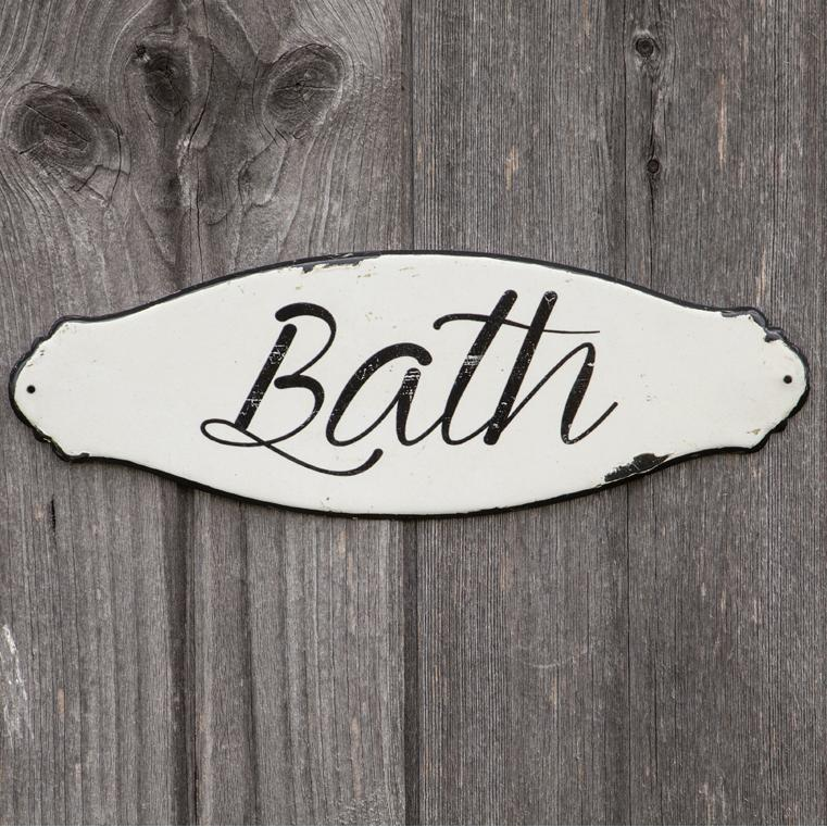 Enamel Script Bath Sign-Decor-A Cottage in the City