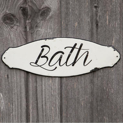 Enamel Script Bath Sign