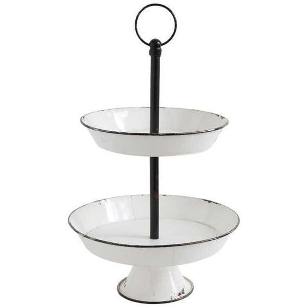 Enamel Two Tier Stand
