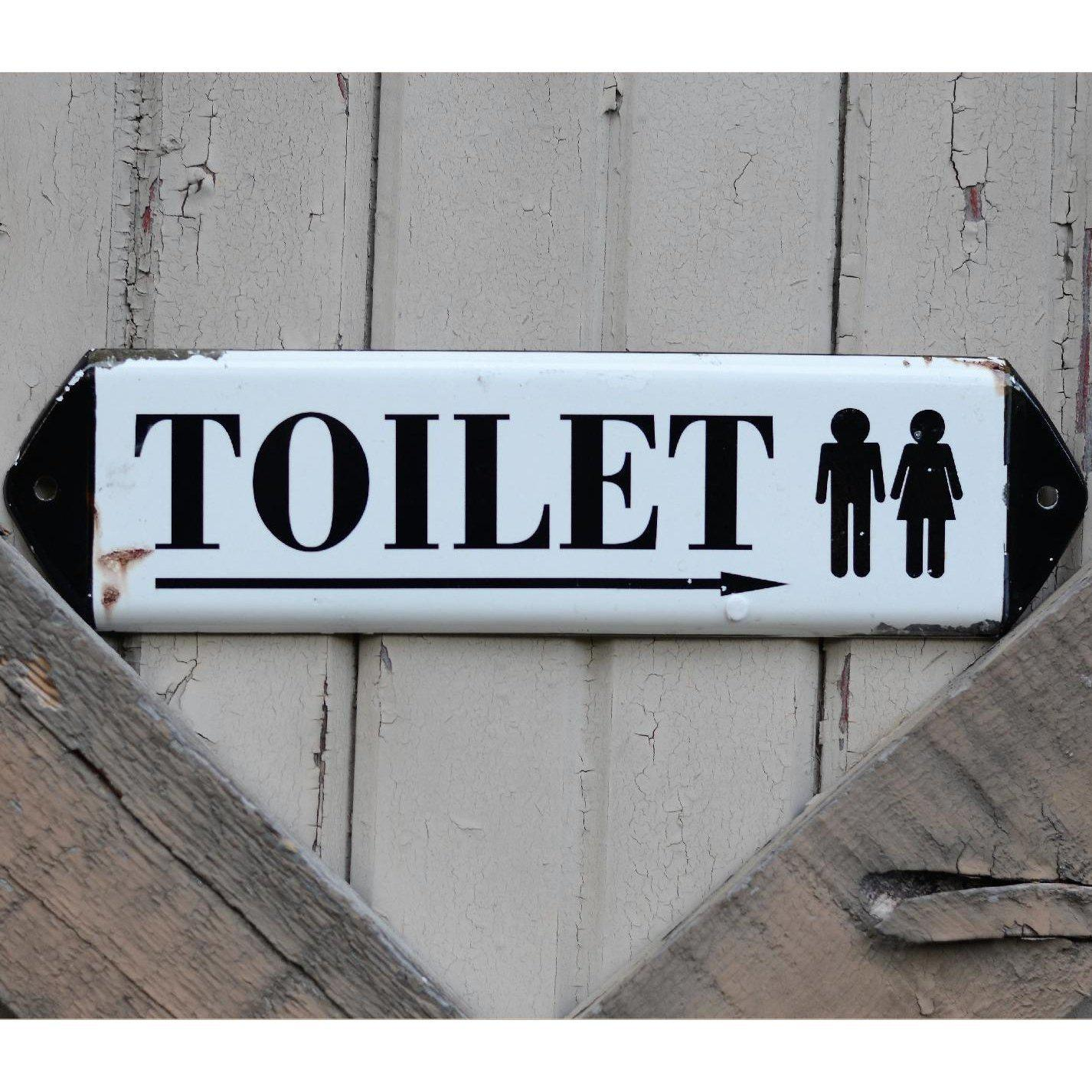 Enamel Unisex Toilet Sign-Decor-A Cottage in the City