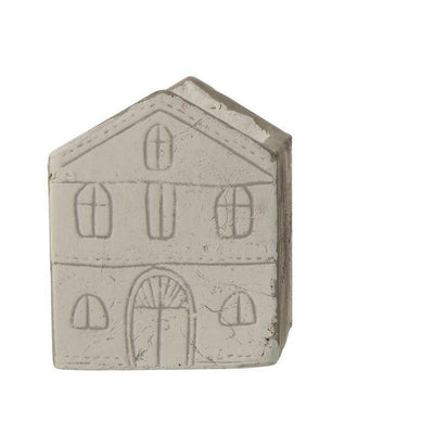 Etched Cement House Container-Storage-Small White-A Cottage in the City
