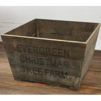 Evergreen Christmas Tree Farm Wood Crate