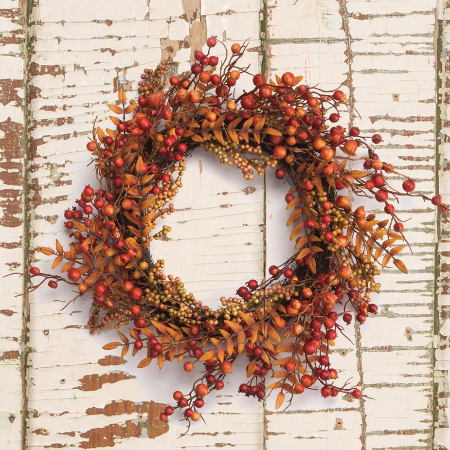 Fall Berries Foliage Wreath-Seasonal-A Cottage in the City