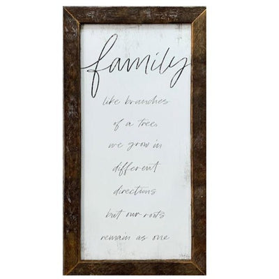Family Rustic Framed Print