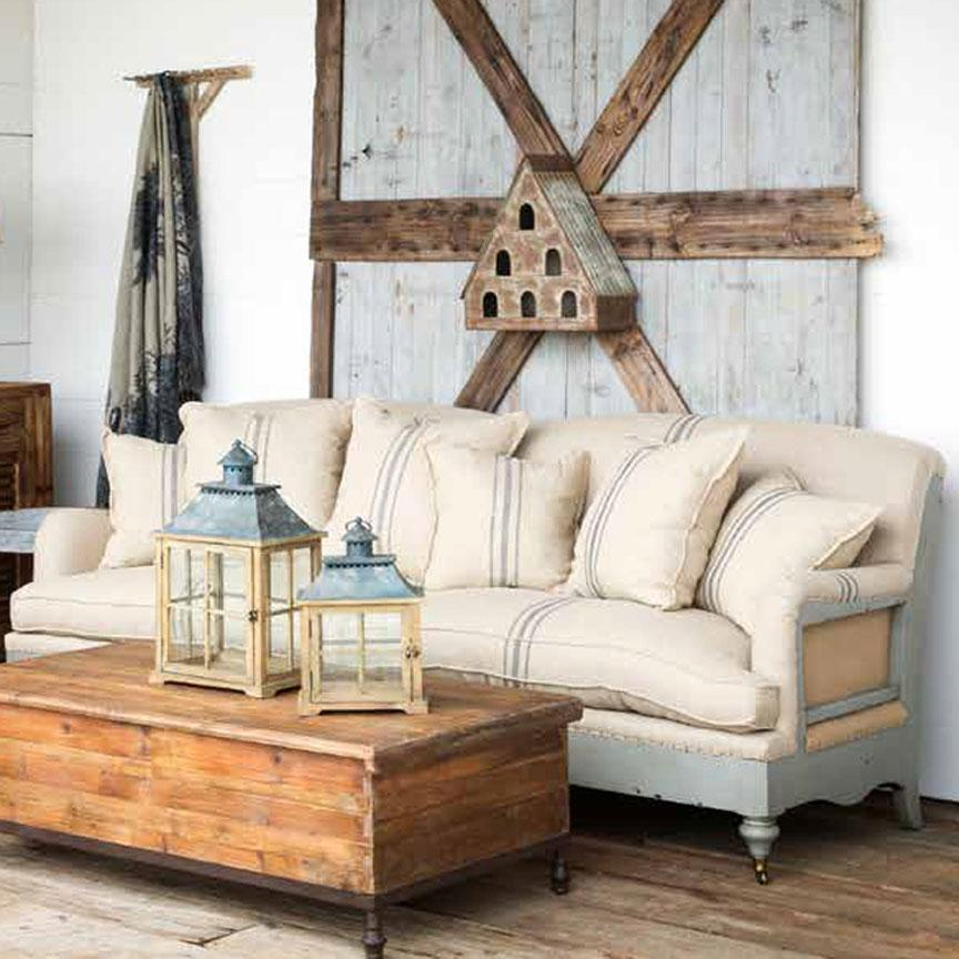 Farmhouse Deconstructed Sofa