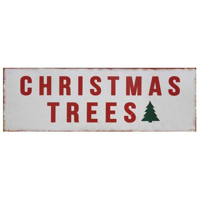 Farmhouse Metal Christmas Trees Sign