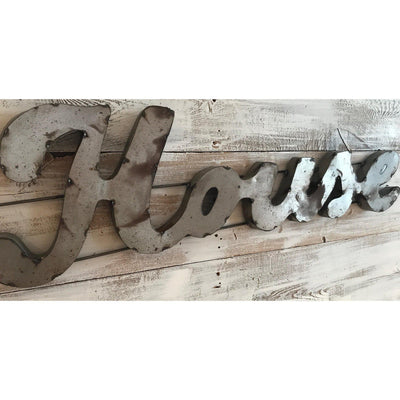 Farmhouse Scrap Metal Sign-Decor-A Cottage in the City