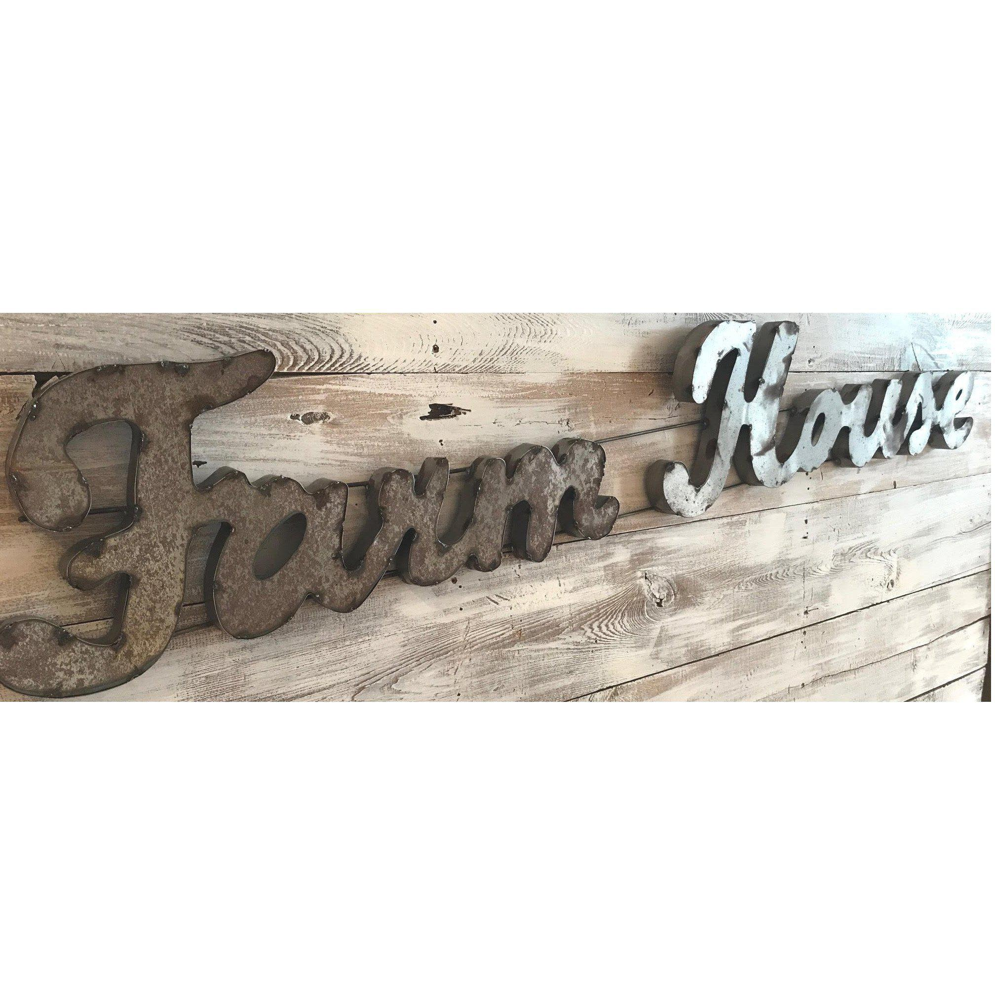 Farmhouse Scrap Metal Sign-Decor-Global Swap Shop-A Cottage in the City