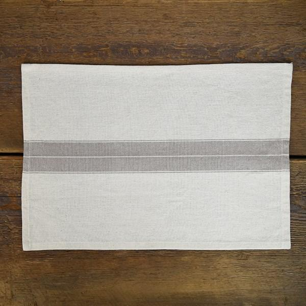 Farmhouse Stripe Cream Placemat-Tabletop-A Cottage in the City