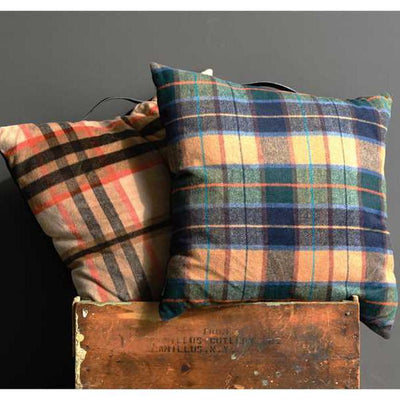 Felted Plaid Fall Pillow
