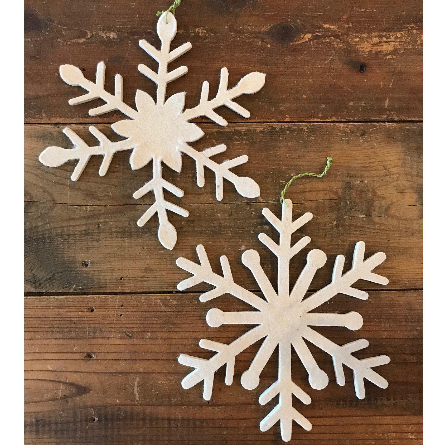 Felted Snowflake Ornament-Seasonal-Arcadia Home-A Cottage in the City
