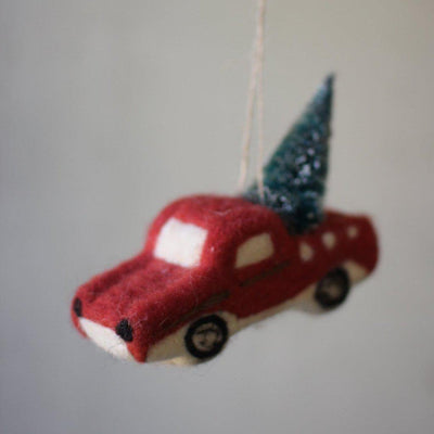 Felted Truck Ornament