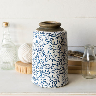 Ceramic Blue & White Canister